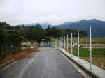 たぶ川集落の柵の工事
