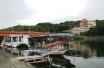 流れ船と満天橋と屋久島山荘ホテル