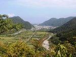 山から見る一湊の町