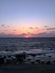 中間海岸の夕日