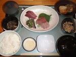豆風庵の刺身定食1200円